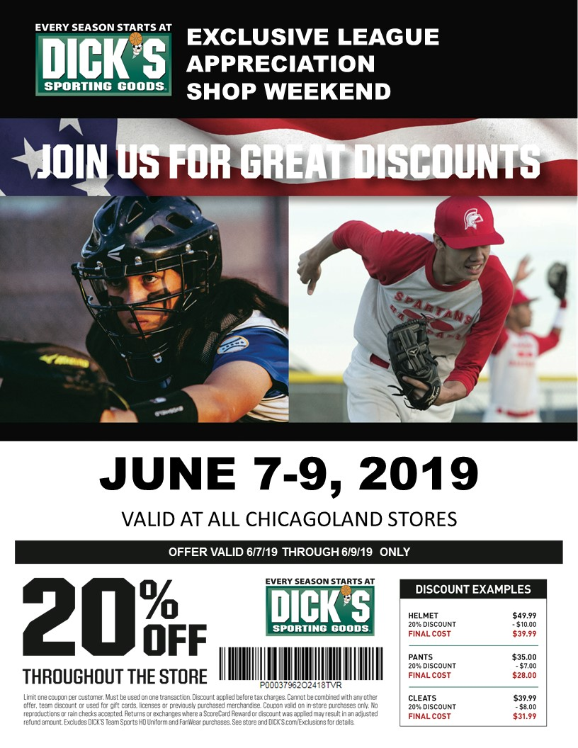 aaa6ca98335 Shop at ANY Dick s store throughout the entire Chicago land area June 7